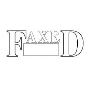 Stock Stamp S-19 Faxed (Date Box) ↓