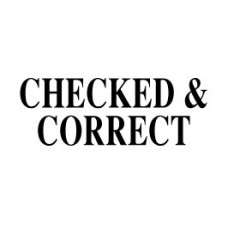 Stock Stamp S-06 Checked/Correct ↓