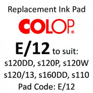 Colop E/12 Ink Pad ↓