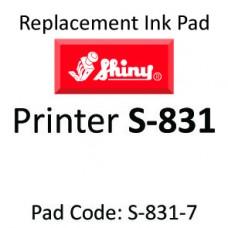 Shiny 831 Ink Pad ↓